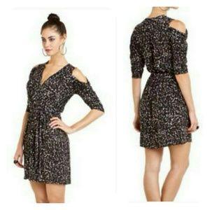 "Hale Bob ""Vintage"" Leopard Wrap Dress Size Medium"